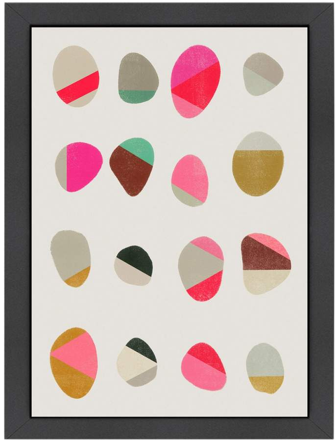 Americanflat Painted Pebbles 2 by Garima Dhawan (Framed Giclee)