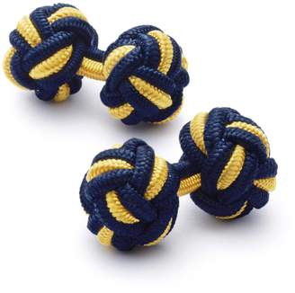 Charles Tyrwhitt Navy and Gold Knot Cufflinks