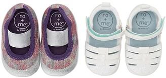 Robeez Ro + Me Glitter MJ/Taylor Sandal 2-Pack (Infant/Toddler)