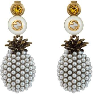 3fbfa0279b2 Gucci Pineapple earrings with crystals
