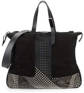 Giuseppe Zanotti Studded Leather Top Handle Bag