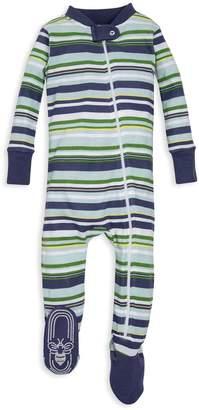 1b7ca01c1 Burt's Bees Vintage Multi-Stripe Organic Baby Zip Up Footed Pajamas