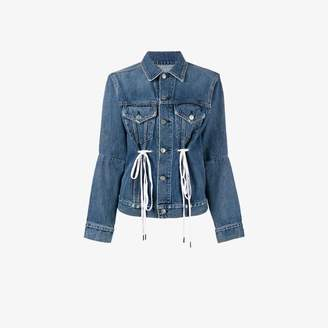Proenza Schouler Ladies Blue Cotton Traditional Pswl Denim Drawstring Jacket, Size: L