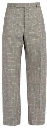 Thom Browne Houndstooth Wool Trousers - Mens - Black White