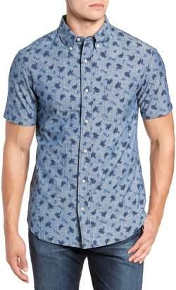 Reyn Spooner Floral Chambray Regular Fit Sport Shirt