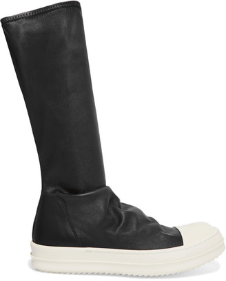 Rick Owens Leather knee boots $1,574 thestylecure.com
