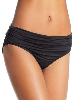 Kenneth Cole Sexy Solids Shirred Hipster Bikini Bottom