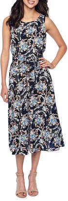 MSK Sleeveless Floral Maxi Dress