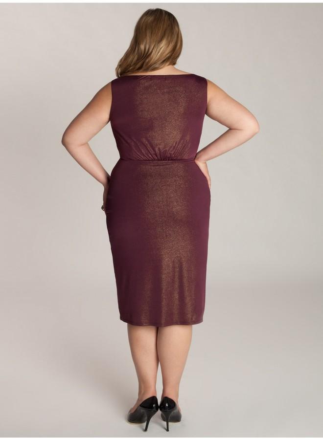 IGIGI Nora Plus Size Dress in Gold/Plum