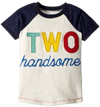 Mud Pie Two Handsome Short Sleeve Raglan Shirt Boy's Clothing