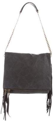 Ash Embossed Leather Shoulder Bag w/ Tags