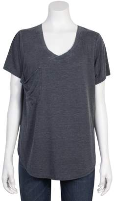 Grayson Threads Juniors' Plus Size Relaxed Burnout Tee