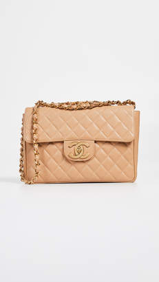 Chanel What Goes Around Comes Around Caviar Half Flap Jumbo Bag