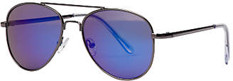 John Lewis Children's Mirror Aviator Sunglasses, Silver/Blue