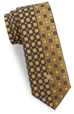 Versace Letter Logo Silk Tie