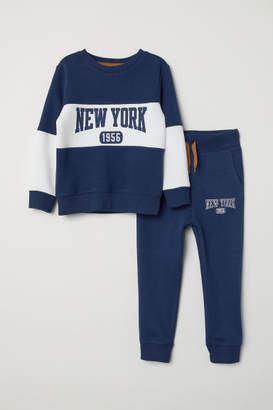 H&M Sweatshirt and Joggers - Blue