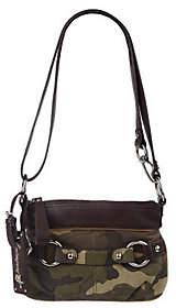 B. Makowsky B.Makowsky Camouflage Leather ZipTopConvertibleCrossbody Bag