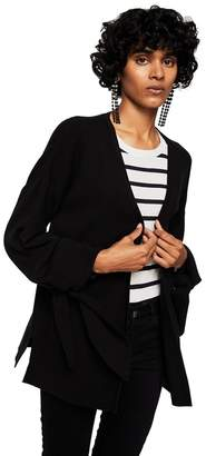 MANGO Black 'Tulipan' Puffed Long Sleeve Cardigan