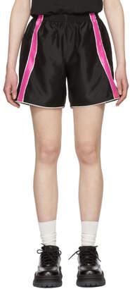 Ribeyron Black and Pink Fitness Shorts