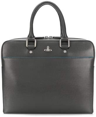 Vivienne Westwood logo plaque laptop bag