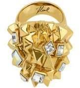 Karl Lagerfeld Pyramid Cluster Crystal Ring