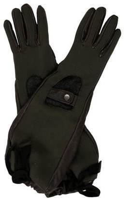 Marni Leather Knit-Lined Gloves
