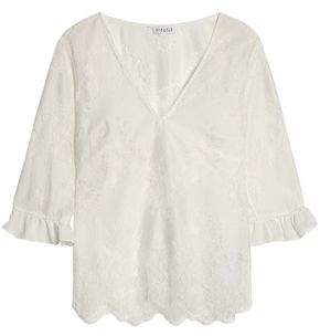 Claudie Pierlot Corded Lace And Tulle Blouse