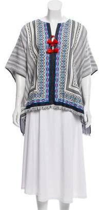 Tory Burch Blaire Embroidered Poncho