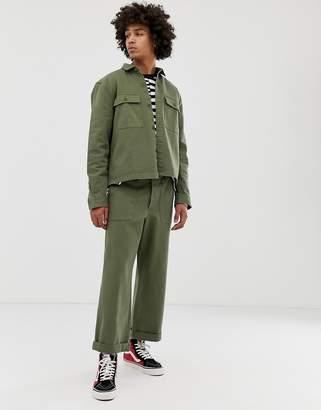 Asos DESIGN two-piece fatigue pants in khaki