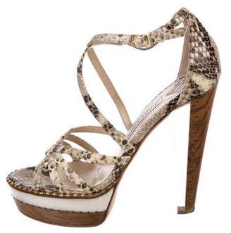 Jimmy Choo Zena Leather Sandals