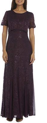 R & M Richards Embellished Evening Gown-Petites