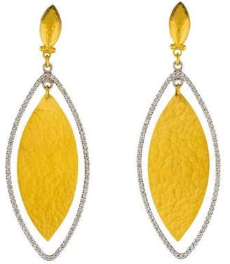 Gurhan Diamond Willow Drop Earrings
