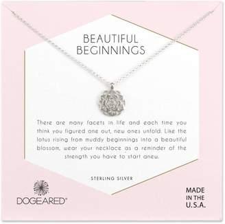 Dogeared Beautiful Beginnings Lotus Pendant Necklace