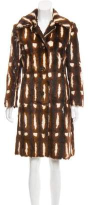 Karl Donoghue Patterned Kid Fur Coat
