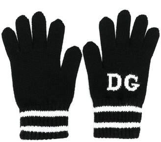 Dolce & Gabbana logo gloves