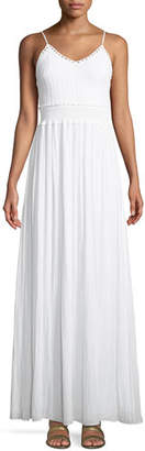 Ramy Brook Stella Crochet-Top A-Line Long Dress