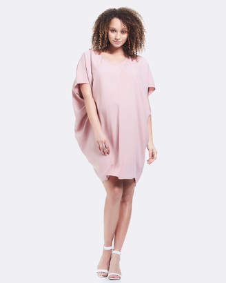 Soon Cara Drape Maternity Dress