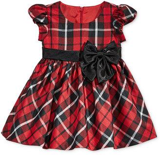 Bonnie Baby Baby Girls' Plaid Taffeta Dress $60 thestylecure.com