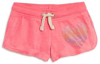 Play Six Girls' Embellished Heart Drawstring Shorts - Little Kid