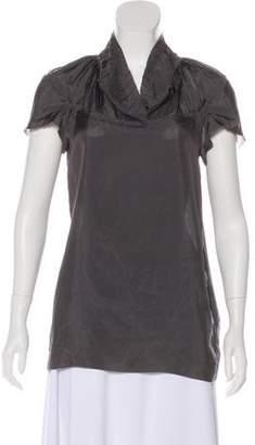 Marni Semi-Sheer Short Sleeve Top