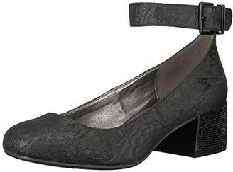 Kenneth Cole Reaction Women's Flip Around Round Toe Pump with Ankle Strap Stars Dress