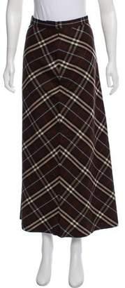 Burberry Nova Check Wool Skirt