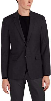 Theory MEN'S WELLAR PLAID WOOL TWO-BUTTON SPORTCOAT - CHARCOAL SIZE 42