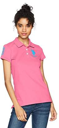 U.S. Polo Assn. Women's Neon Logos Short Sleeve Shirt