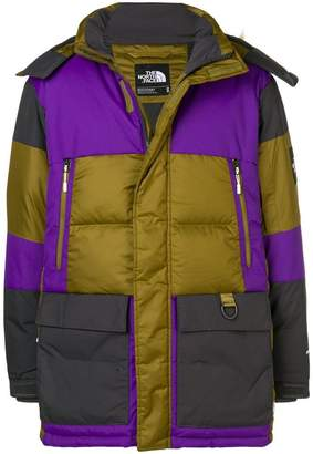 The North Face colour block padded coat