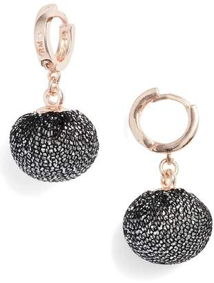 Rebecca Minkoff High Shine Pompom Drop Earrings