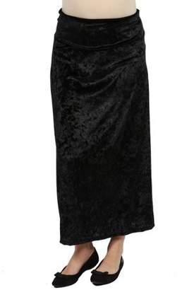 24/7 Comfort Apparel Jazz Velvet Maternity Skirt