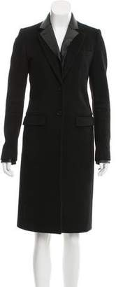 Joseph Leather-Accented Wool-Cashmere Coat