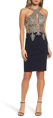 Women's Xscape Embroidered Sheath Dress $258 thestylecure.com