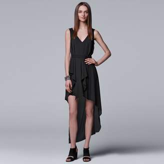Vera Wang Women's Simply Vera Ruffled High-Low Hem Dress
